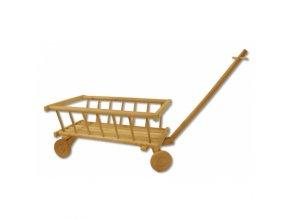 Dětksý dřevěný vozík -trakařD261
