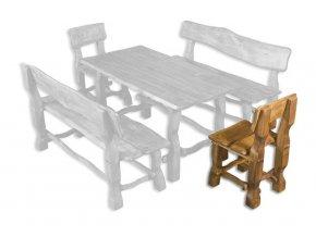 Zahradní židle z masivního olšového dřeva MO101 BRUNAT