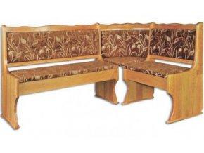 Dřevěná jídelní rohová lavice MASIV BM111 z borovice  SKLADEM 1KS