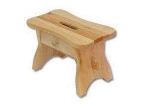 Dřevěný taburet BM255 borovice masiv