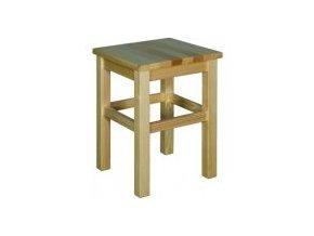 Dřevěný taburet BM258 borovice masiv