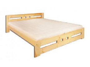 Dřevěná masivní postel 140x200 cm masiv BM117 z borovice