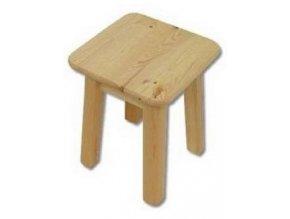 Dřevěný taburet BM252 borovice masiv