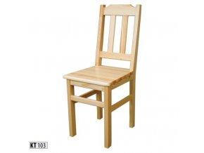 Dřevěná jídelní židle BM103 borovice masiv