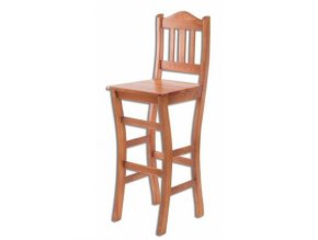 Dřevěná barová židle BM111 borovice masiv