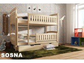 Dřevěná postel Ignac 80x180 cm z borovice