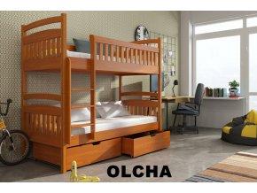 Dřevěná postel Marta 90x190 cm z borovice