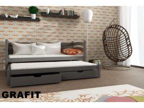 Dřevěná postel Tosia 80x200 cm z borovice