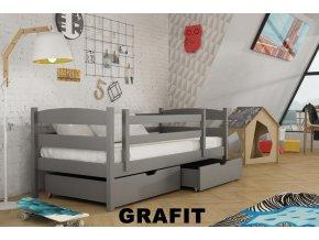 Dřevěná postel Zuzka 80x200 cm z borovice