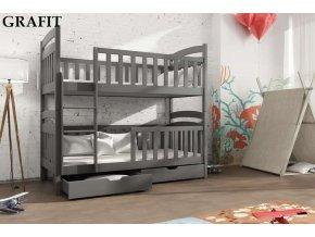 Dřevěná postel Toník 80x200 cm z borovice
