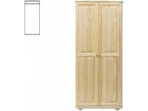 Dřevěná šatní skříň MASIV 103 z borovice