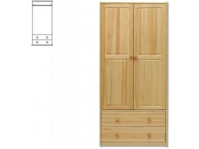 Dřevěná šatní skřín MASIV 111  z borovice