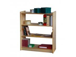 Knihovna - regál  dřevěný  10