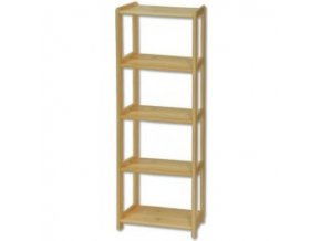 Knihovna - regál  dřevěný  123  - výška 150 cm - šířka 50 cm
