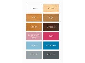 Dřevěná postel Monika 80x200 cm z borovice