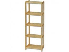 Knihovna - regál  dřevěný  123  - výška 150 cm - šířka 80 cm