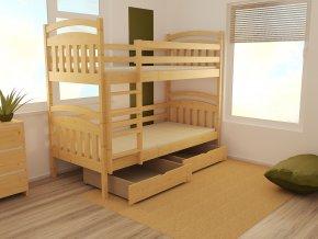 Patrová postel PP003 90x200 cm borovice masiv