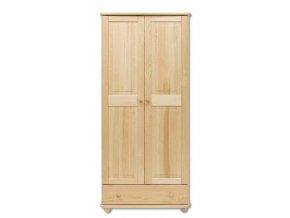 Dvoudveřová dřevěná šatní skříň MASIV 102 z borovice