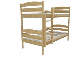 Patrová postel PATRICIE 004 80x180 cm borovice masiv