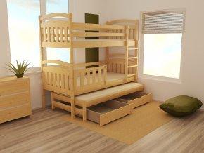 Patrová postel s výsuvnou přistýlkou PPV 001 90 x 200 cm