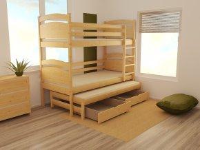 Patrová postel s výsuvnou přistýlkou PPV 002 90 x 200 cm