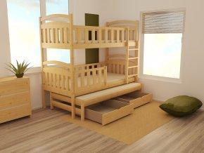 Patrová postel s výsuvnou přistýlkou PPV 014 90 x 200 cm