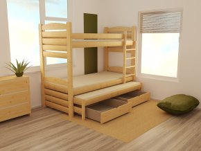 Patrová postel s výsuvnou přistýlkou PPV 022 90 x 200 cm