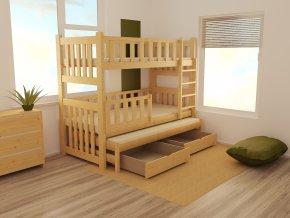 Patrová postel s výsuvnou přistýlkou PPV 023 90 x 200 cm