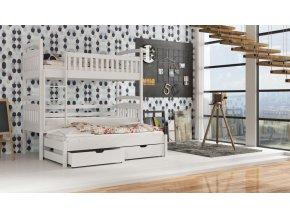 Dřevěná postel Arek 80x200 cm z borovice