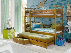 Dřevěná postel Colo 80x200 cm z borovice