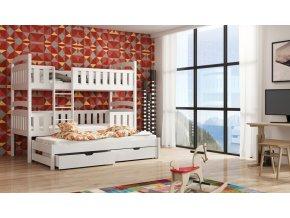 Dřevěná postel Labo 80x200 cm z borovice