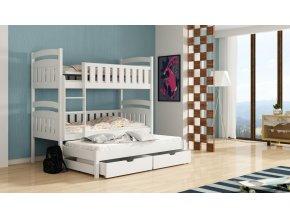 Dřevěná postel Ola 80x200 cm z borovice
