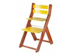 Rostoucí židle SANDY TŘEŠEŇ -T06 třešeň/žlutá s ergonomickým sedákem
