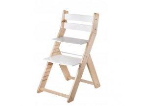 Rostoucí židle SANDY -M07 natur/bílá s ergonomickým sedákem
