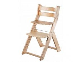 Rostoucí židle SANDY -001 natur/natur s ergonomickým sedákem