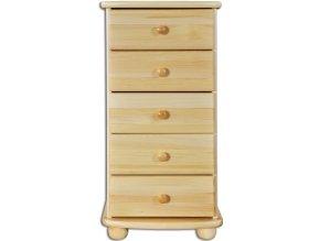 Masivní dřevěná komoda 5 zásuvek masiv 160