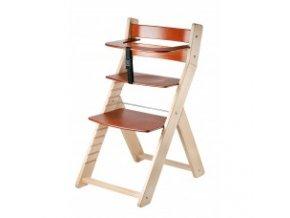 Rostoucí židle Luca -002 natur lak/třešeň s ergonomickým sedákem