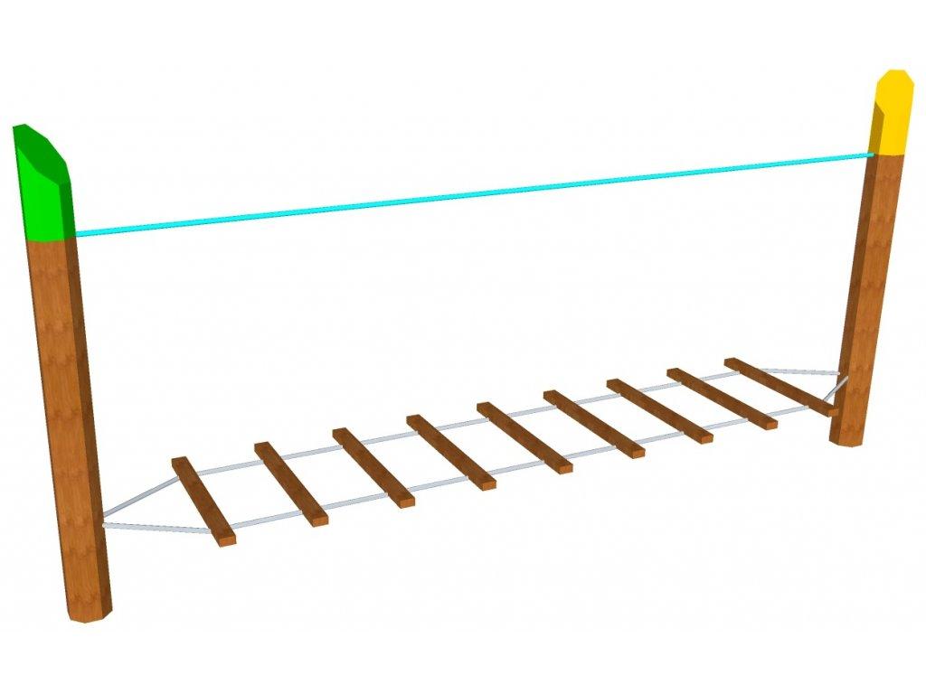 Nízká lana horizontální žebřík AKÁT katalog