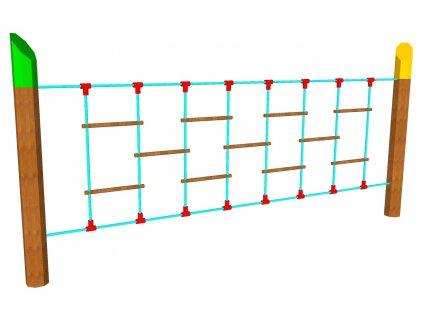 Nízká lana lanový plot s příčkami AKÁT katalog