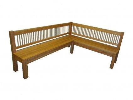 Dubová rohová lavice Carmen