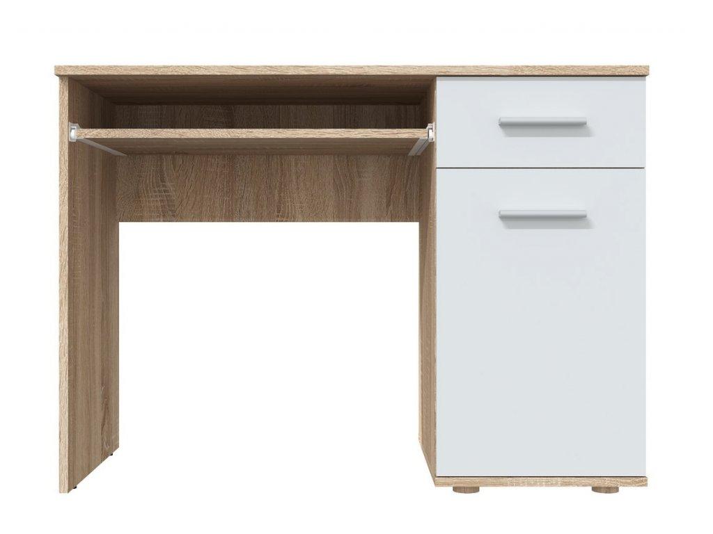 Pracovní stůl DOMINO sonoma/bílá