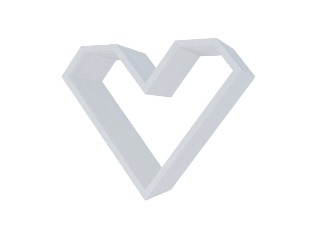 Police ve tvaru srdce ARIZA barva bílá