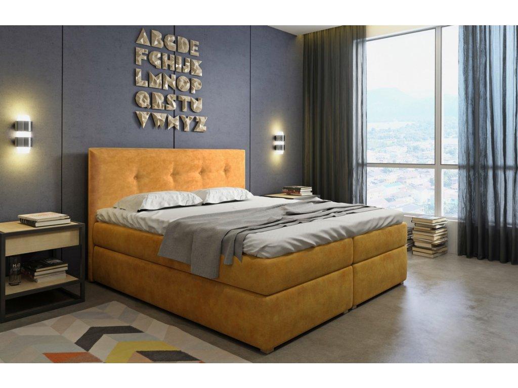 Čalouněná postel s ÚP SIVARA 140 TERRA 48
