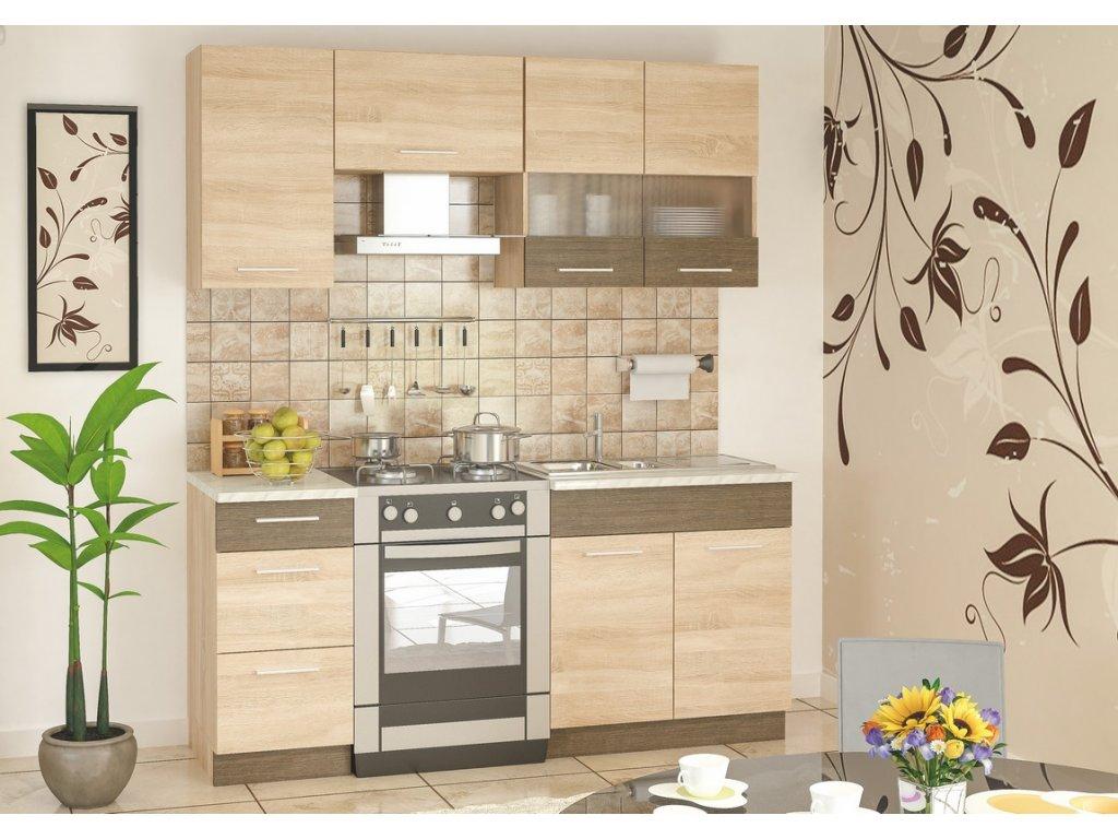 Kuchyně GRETA 180 sonoma/rivera lanýž