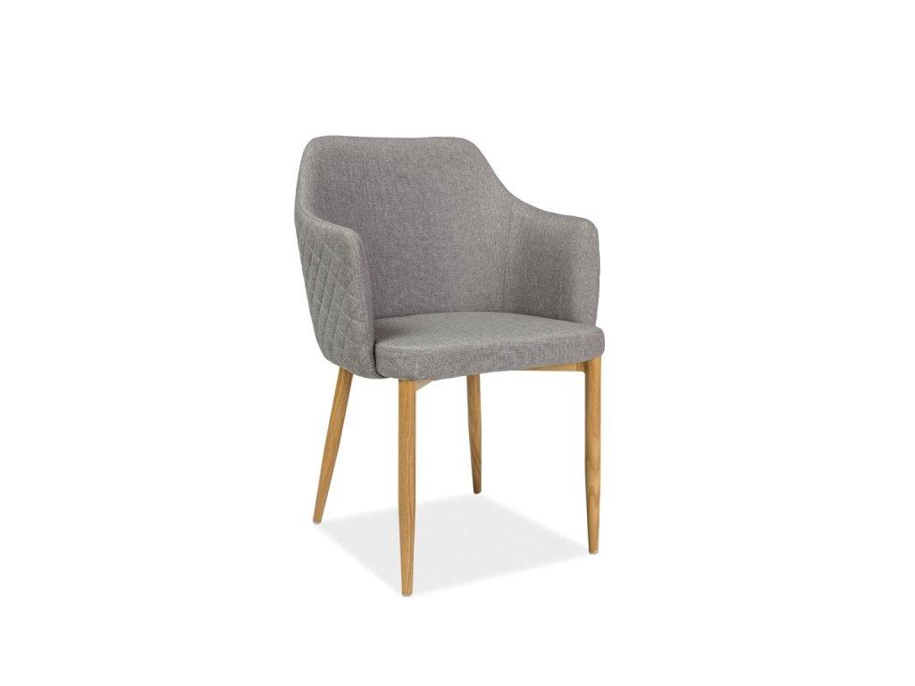 Jídelní čalouněná židle ASTOR šedá