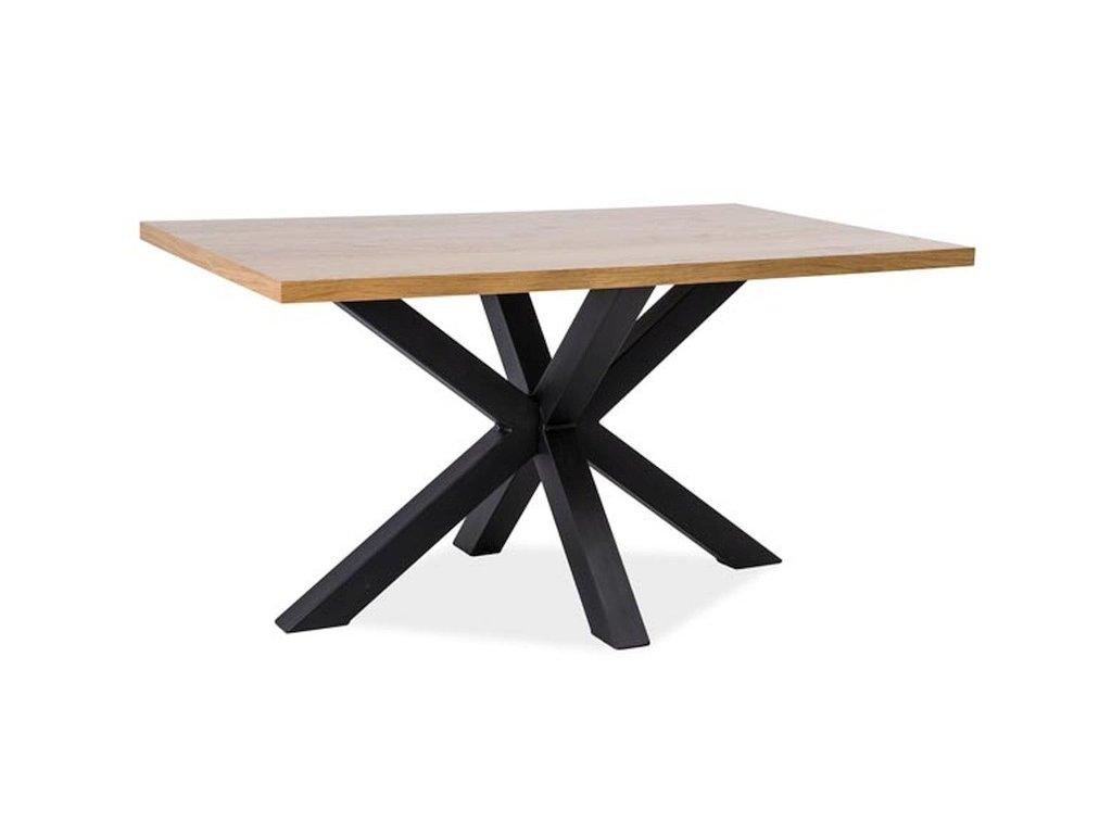 Jídelní stůl CROSS dřevo masiv/kov 180x90