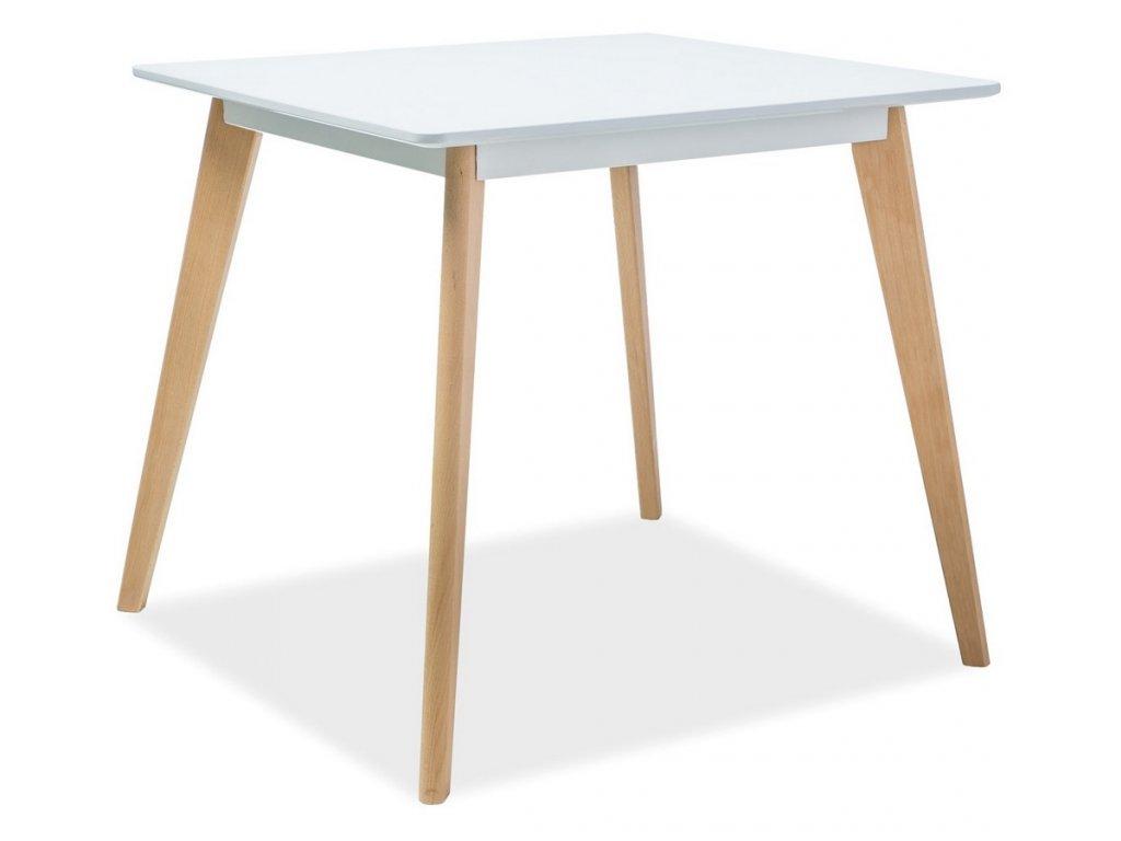 Jídelní stůl DECLAN II 80x80 bílá/buk