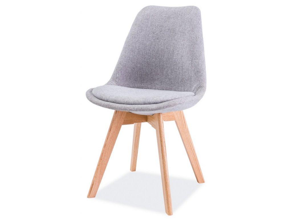 Jídelní židle DIOR dub/světle šedá