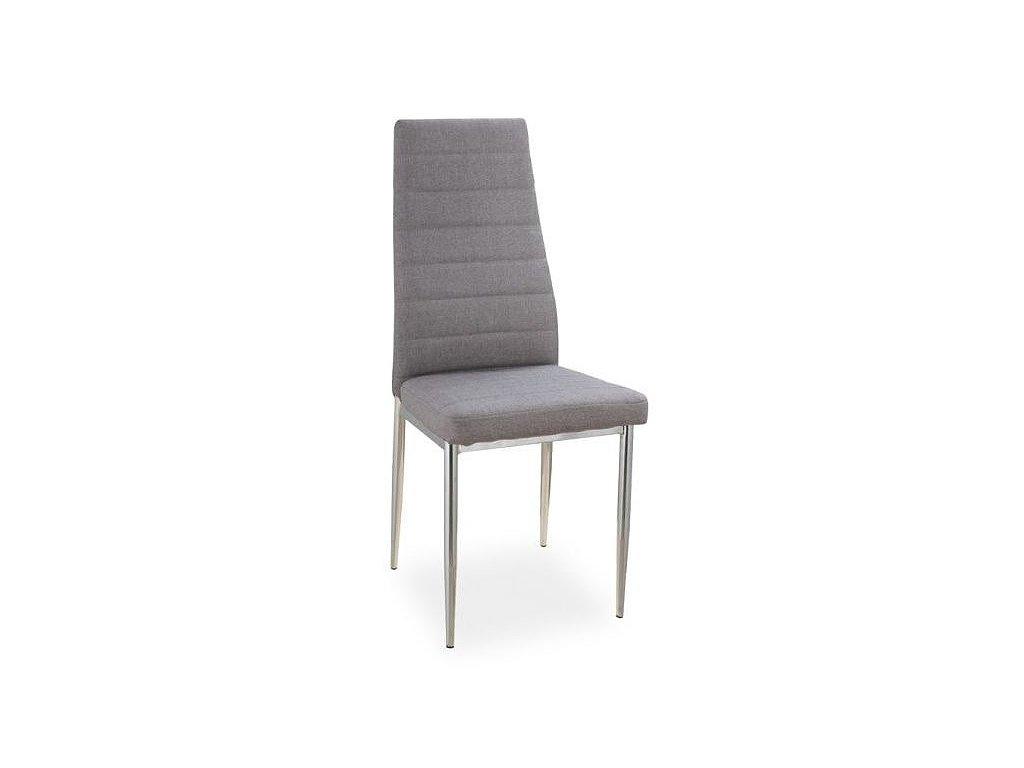 Jídelní čalouněná židle H-263 šedá