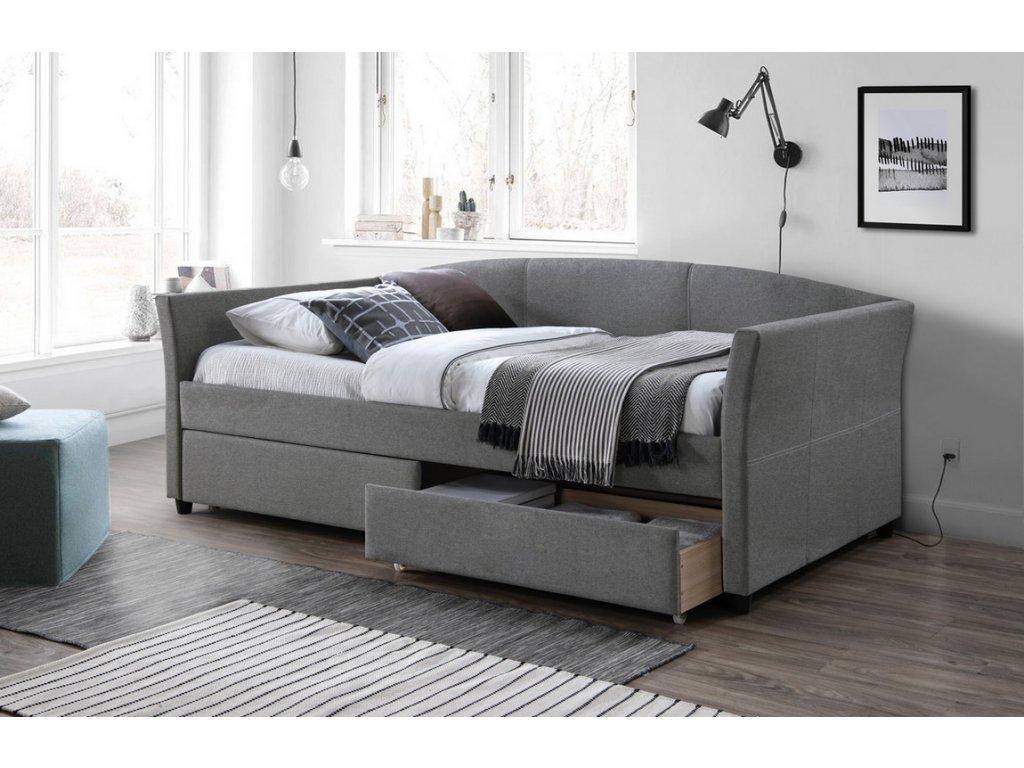 Čalouněná postel LANTA 90x200 šedá